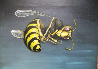 Maleri af død hveps
